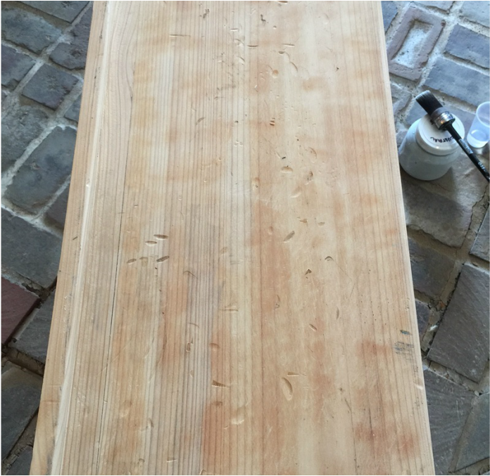 Hot to add instant age to raw wood #howto #diy