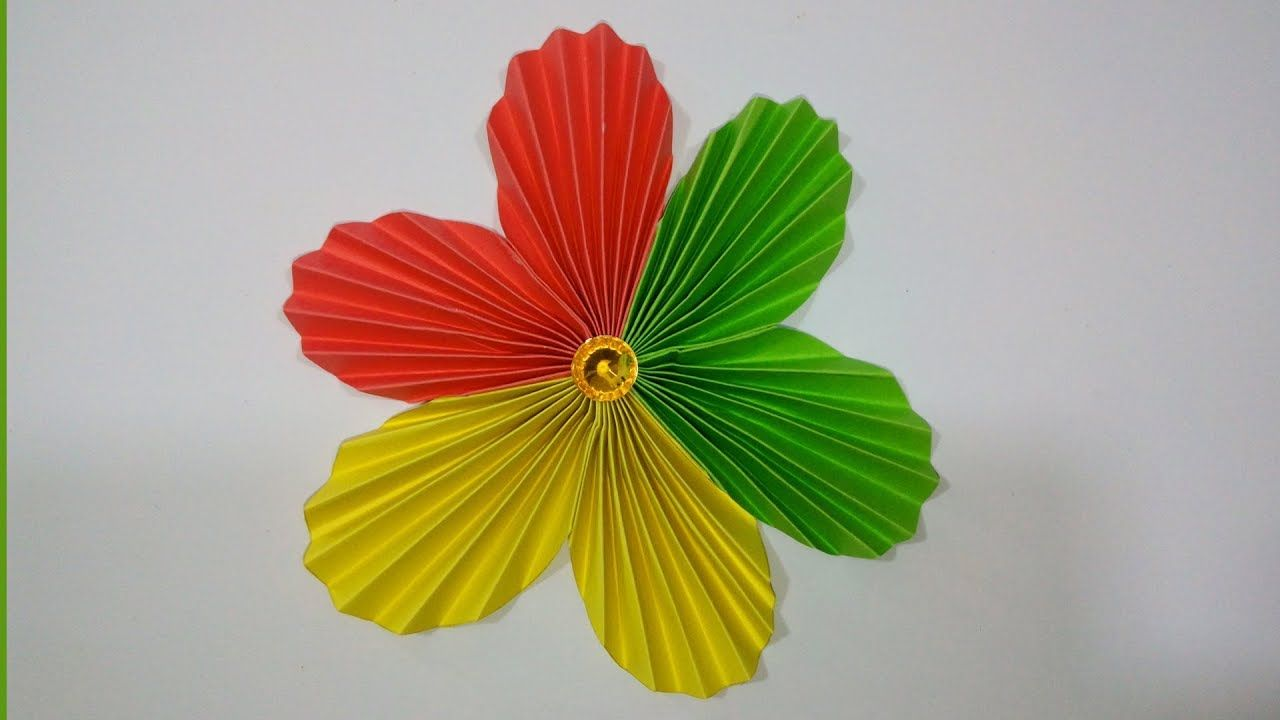 How To Make A Flower With Colour Paper Easy Simple Paper Flower Tut Simple Paper Flower Paper Flowers Paper Flower Tutorial