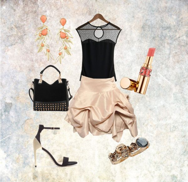 """""""just a lil party skirt"""" by aliciadematteo ❤ liked on Polyvore"""