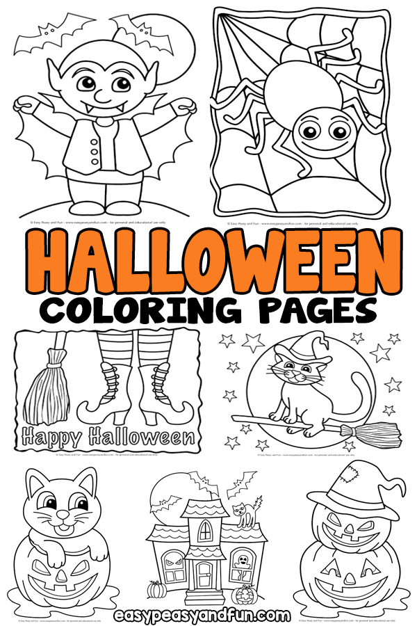 Halloween Coloring Pages Easy Peasy And Fun Halloween Coloring Pages Halloween Coloring Coloring Pages