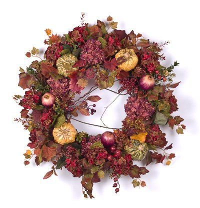 Fall Hydrangea & Berry Wreath - 28 inch (Silk) by Darby Creek Trading, http://www.amazon.com/dp/B0057XQRK2/ref=cm_sw_r_pi_dp_ZbsVpb0SCK4YE