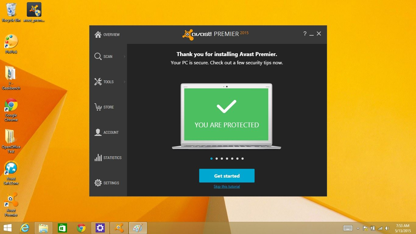 avast error: archive is password protected