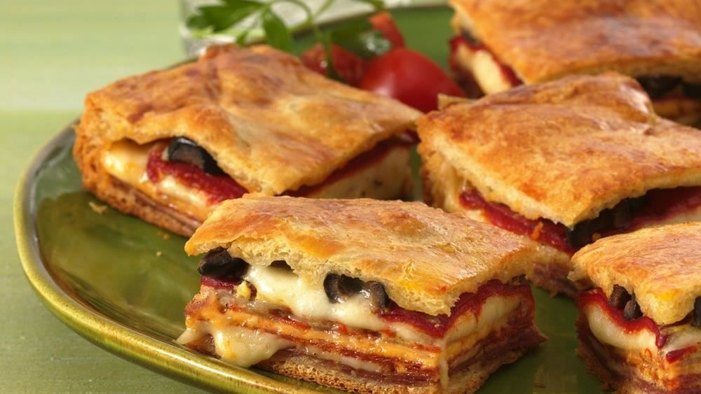 There's a whole antipasto tray baked in the tender crust of these crescent squares, served as either an appetizer or main dish.