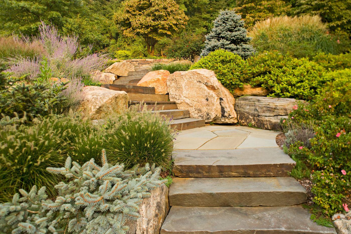 natural stone steps | Natural Stone Steps | Cording Landscape Design ...