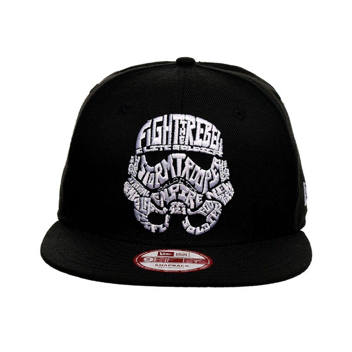 99df0d3fc409d New Era Star Wars Word Storm Trooper Snapback Hat (Black)