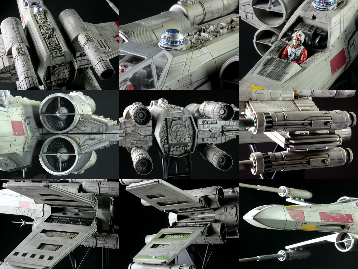 Fine Molds Star Wars 1/48 X-Wing Fighter: Assembled/Painted.
