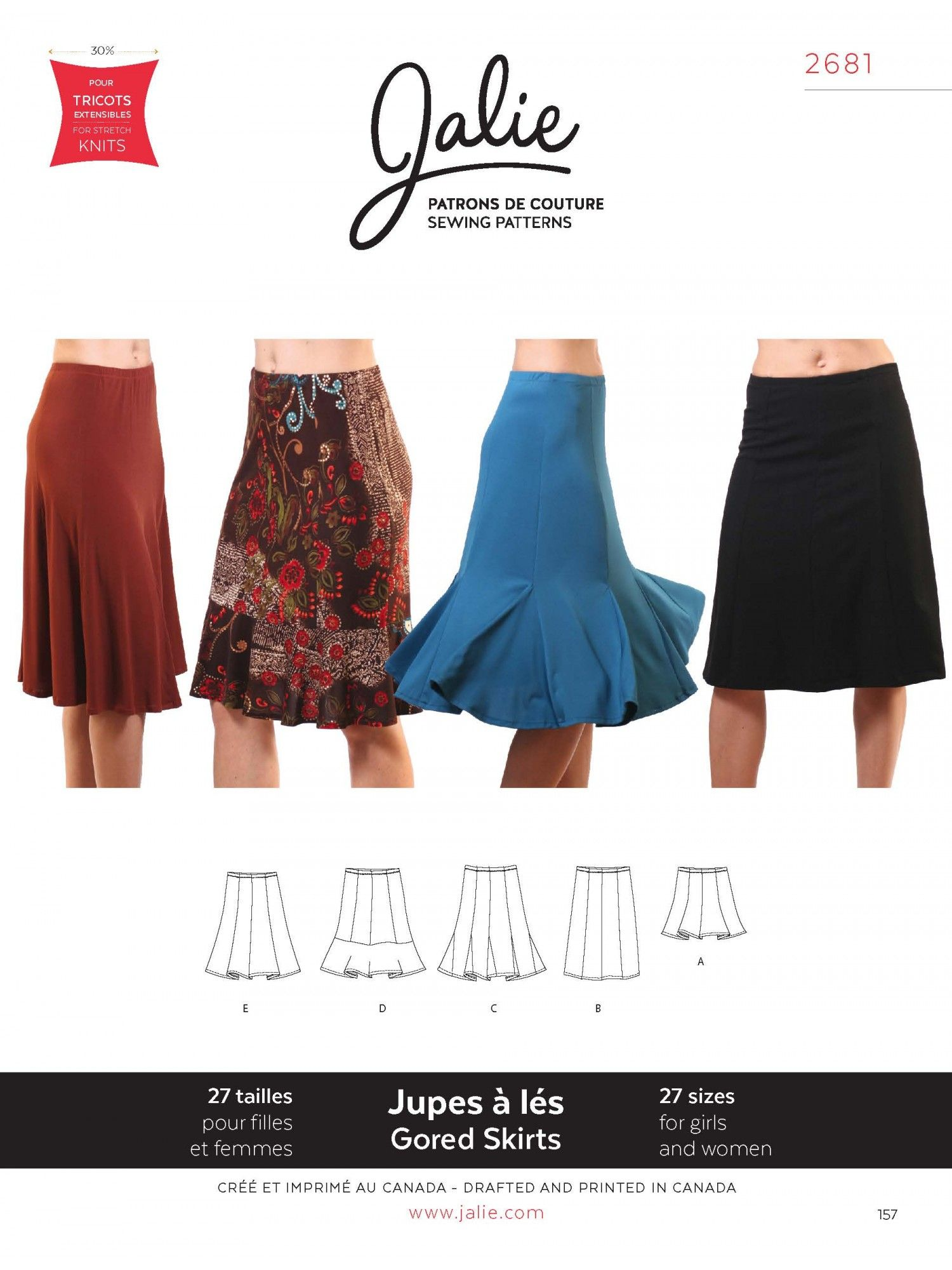 Knit Gored Skirts