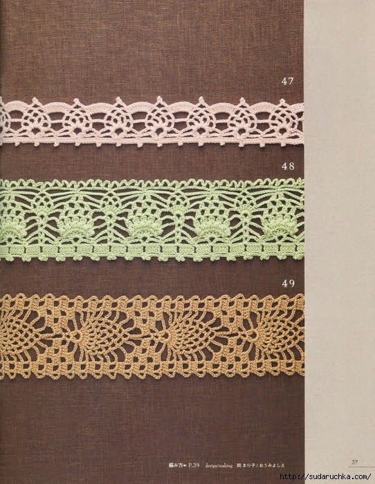 Crochet Edging Tons Of Pineapple Edgingee Diagrams Edgings