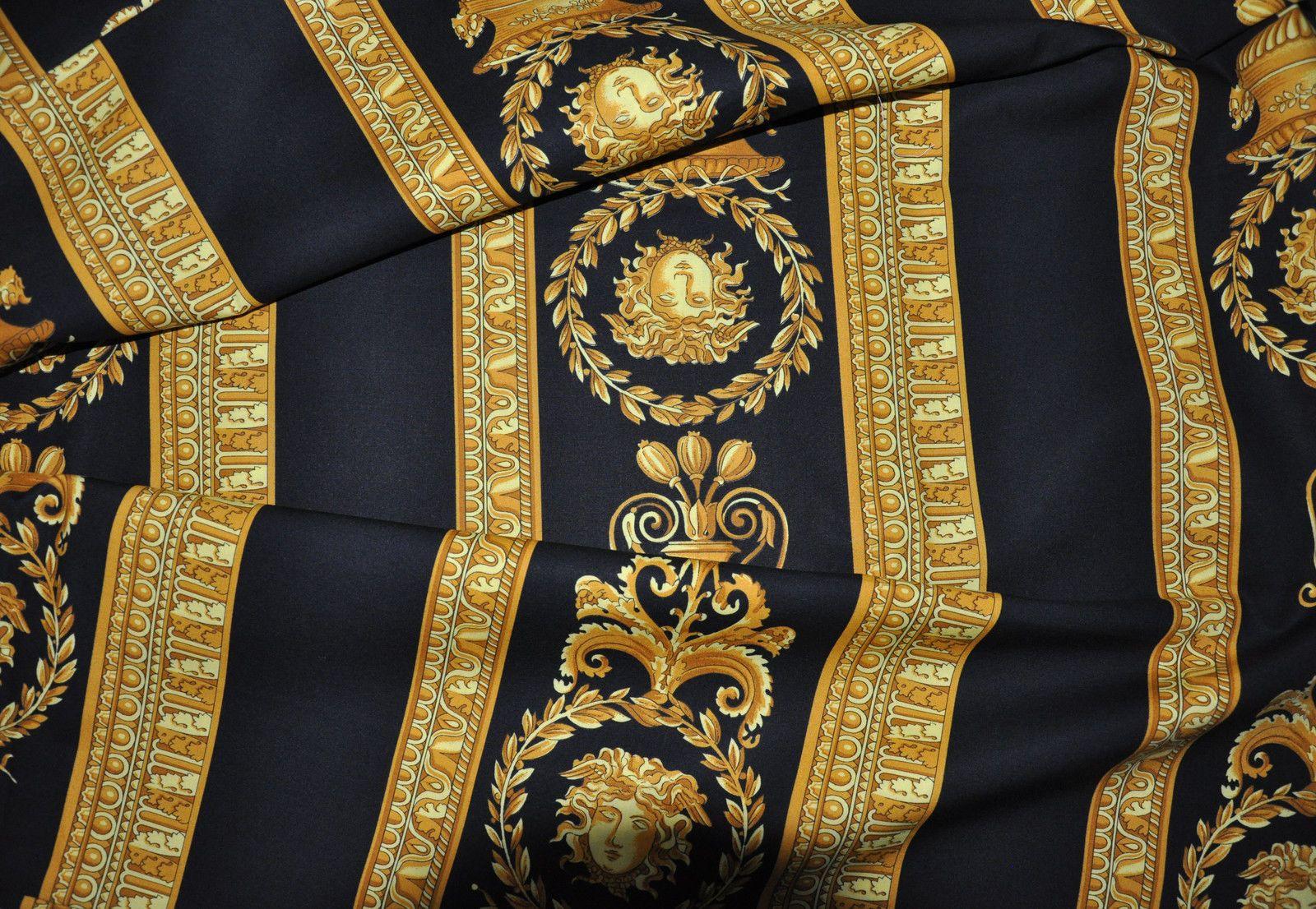Versace Medusa Black King Size Flat Sheet Full Pattern Ebay Versace Wallpaper Warriors Wallpaper Golden State Warriors Wallpaper