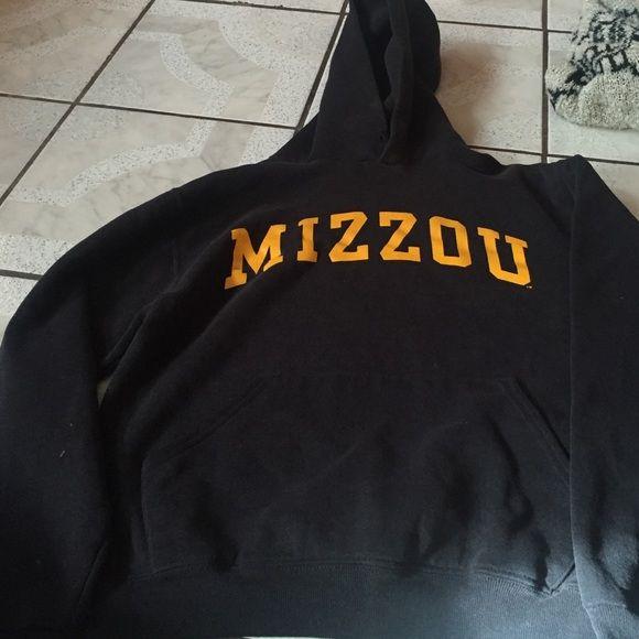 Mizzou hoodie College hoodie no strings through the hood part Russel Tops Sweatshirts & Hoodies