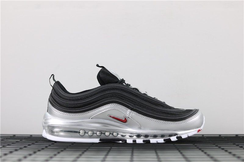 Nike Air Max 97 QS Black Metallic Silver AT5458 001 | KicksCrew