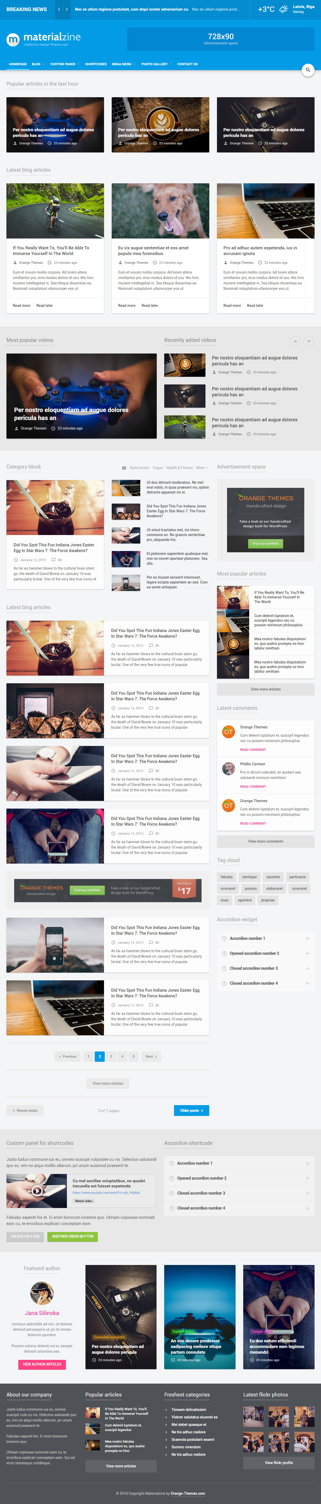 MaterialZine is Premium ful Responsive Retina #HTML5 #Magazine Template. #MaterialDesign. Mega Menu. Google Web Fonts. Test free demo at: http://www.responsivemiracle.com/materialzine-premium-responsive-blog-magazine-html5-template/