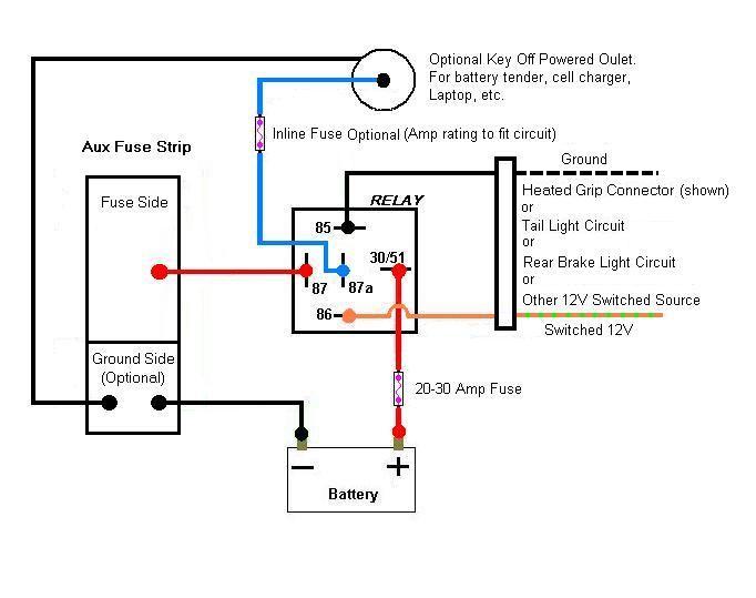 aux fuse box wiring  101  relay fuse box diagram