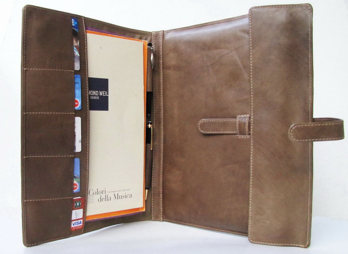 """PERSONALIZED MacBook Air 13"""" Portfolio / File Folder & Card Cases in Premium Selection, Hand Dyed, Olive Calfskin. $139.00, via Etsy."""