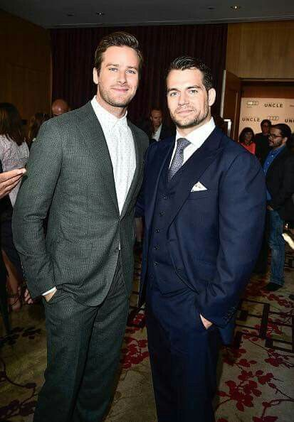 Armie Hammer and Henry Cavill at the premiere in Toronto (The Man of U.N.C.L.E.)