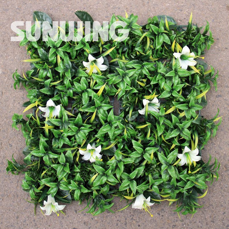 25x25cm Artificial Plant Hedge Sample Plastic Garden Flower Fence Mat -G0602A037