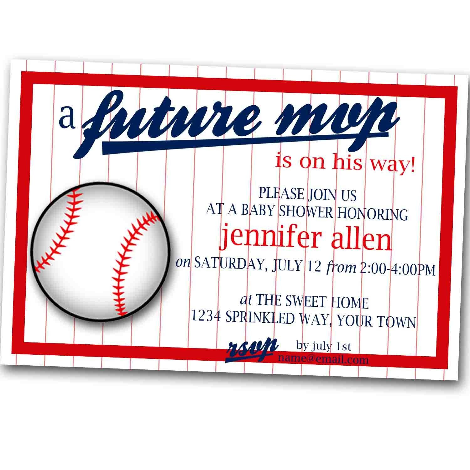 Future M V P Baseball Baby Shower Invitation by SprinkledDesigns ...