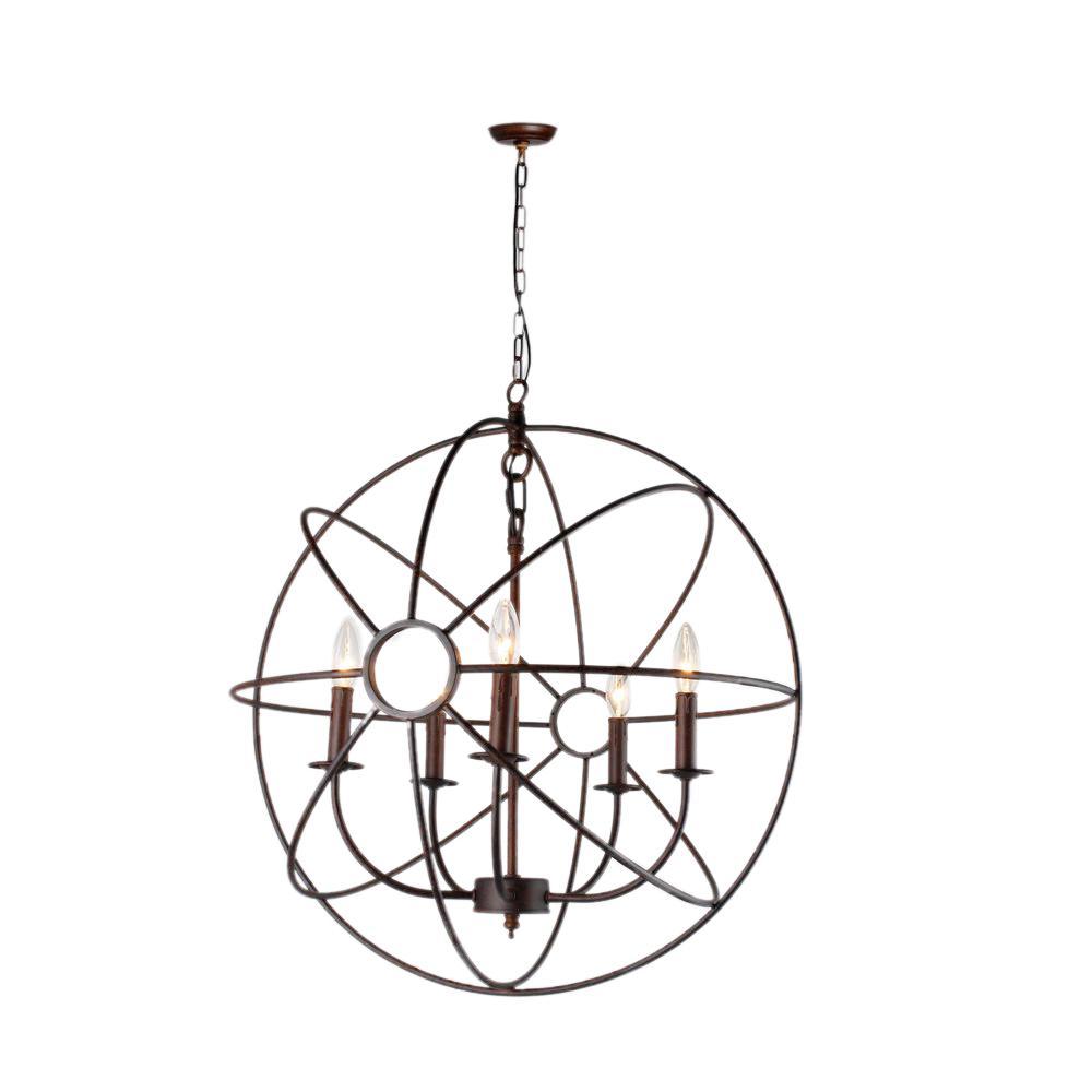 Y decor infinity light rustic bronze mini chandelier mini