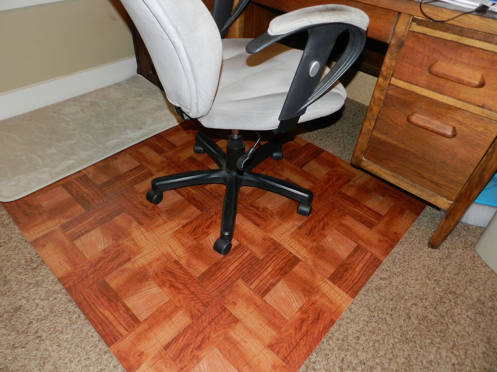 diy wood chair mat hanging egg johannesburg office live by it don t deny desk