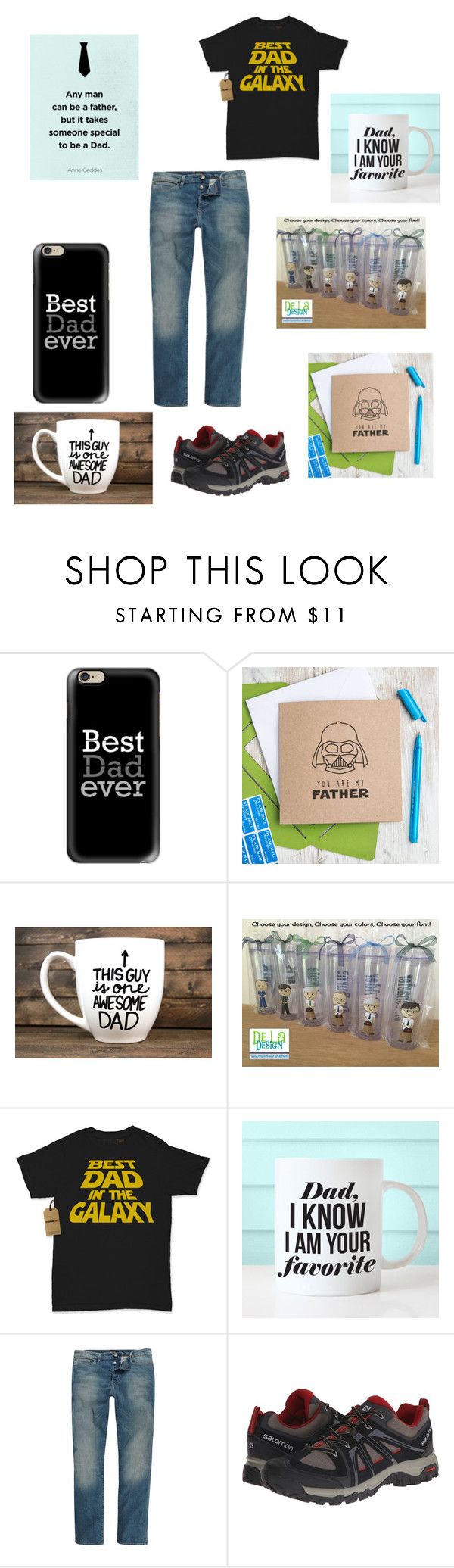 """""""Father's Day"""" by fob1fan ❤ liked on Polyvore featuring Casetify, River Island, Salomon, men's fashion and menswear"""