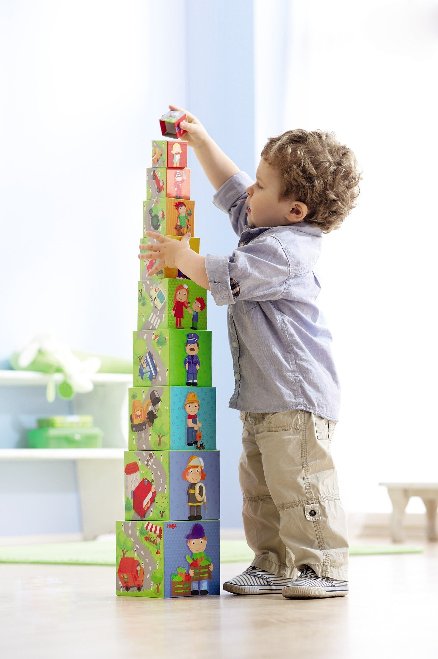 Zippy Cars Stacking Cubes Nesting Boxes HABA USA