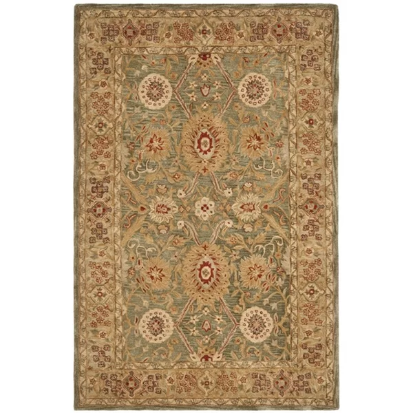 Charlton Home Tingley Persian Inspired Hand Tufted Wool Gold Area Rug Area Rugs Rugs Wool Area Rugs