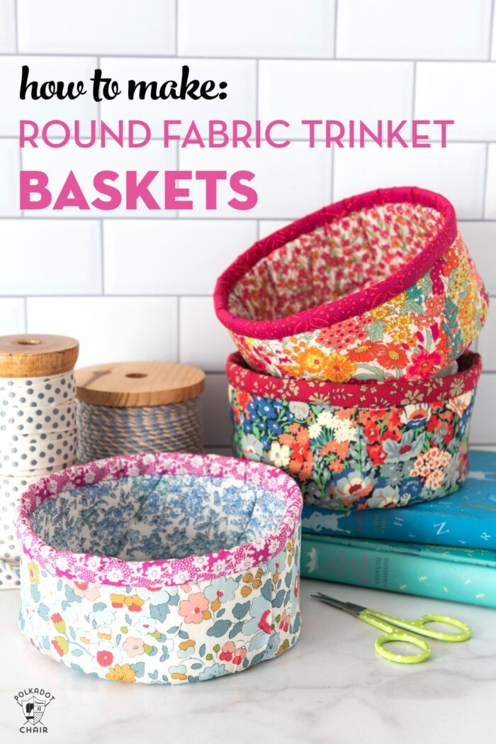 How to Make Round Fabric Baskets | Polka Dot Chair
