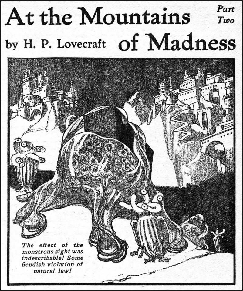 Hp Lovecrafts At The Mountains Of Madness Astounding Stories