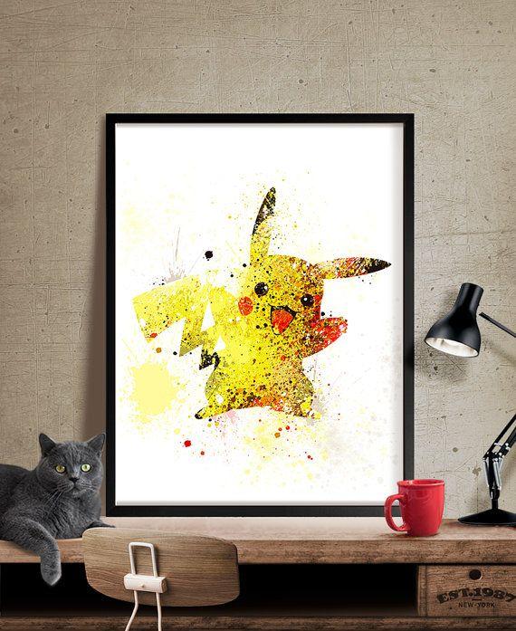 Pokemon GO Pikachu Print Pokemon Art Pokemon by FineArtCenter ...