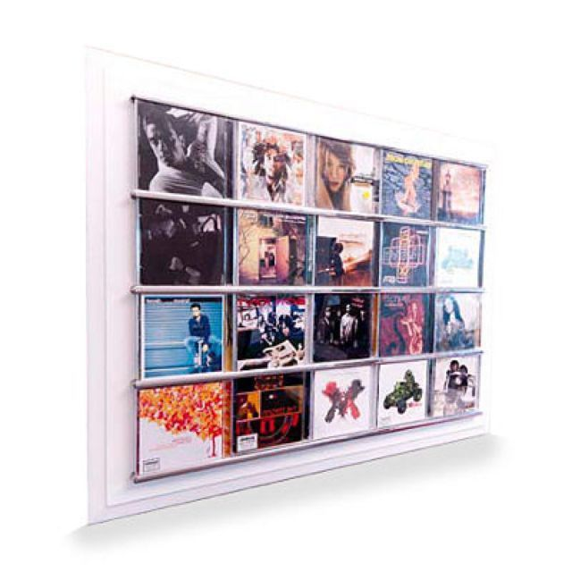 CD Display Frame Displaying Your Music AS ART Funky Wall Decor OR ...