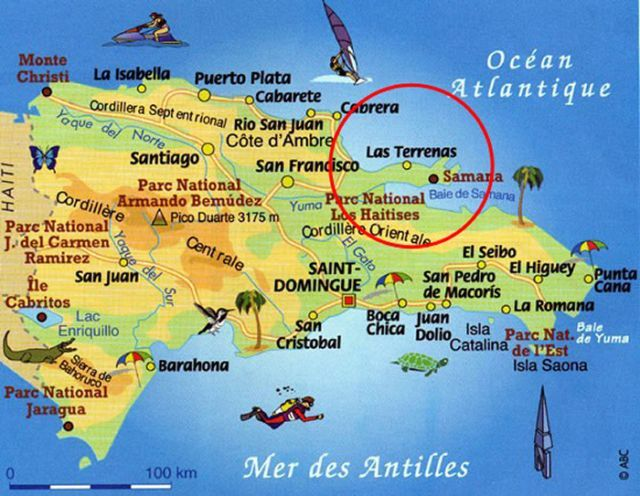 Map Samana Rep Dom My Country Dominican Republic Mi Pas