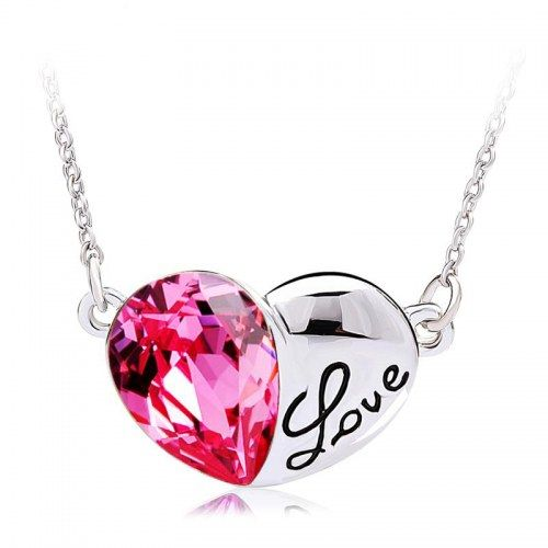 Swarovski Elements Love Me Necklace by Ouxi - Necklaces by saashi jewels