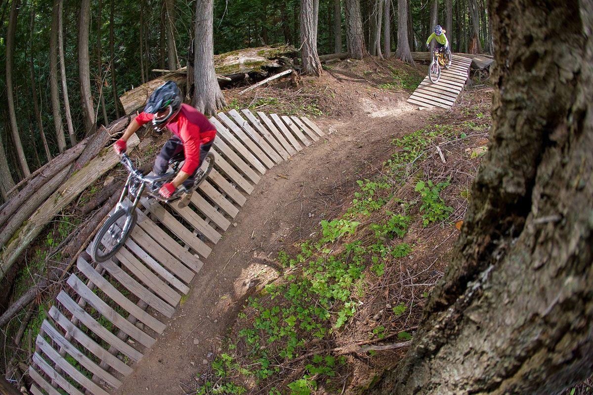 Northshore Banked Turn Alpine Resorts Bike Trail Riding