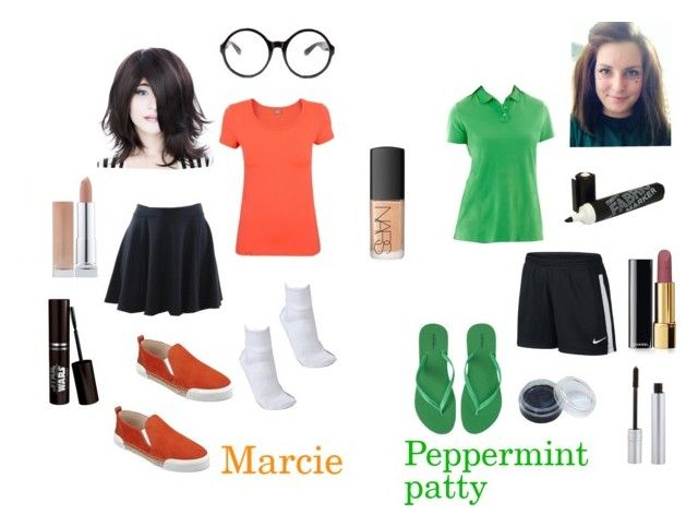 Peppermint Patty And Marcie Cosplay Charlie Brown Costume Peppermint Patties Peanut Costume