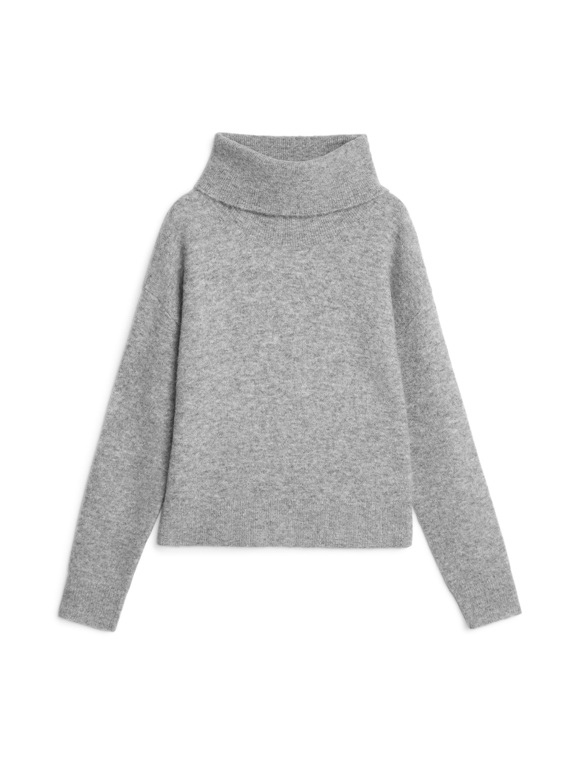 93108a8d8d440e 222040-114 - Cropped Roll-Neck Jumper. The yarn used for this knit is a  blend of super-fine alpaca fibres, soft merino wool, strong and lightweight  nylon ...
