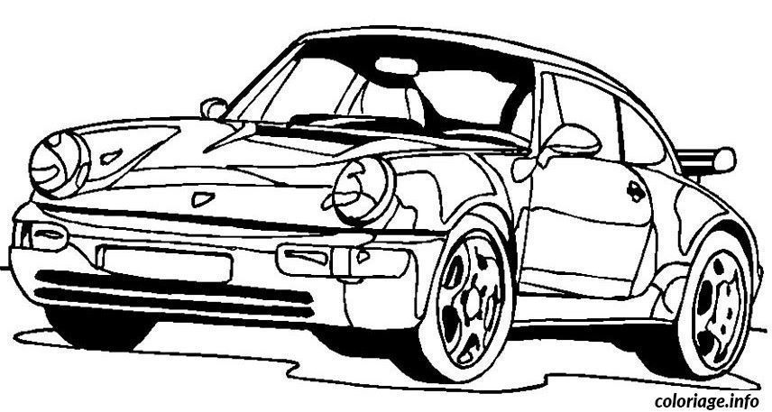 Coloriage Voiture A Imprimer In 2020 Porsche Porsche 911 Turbo