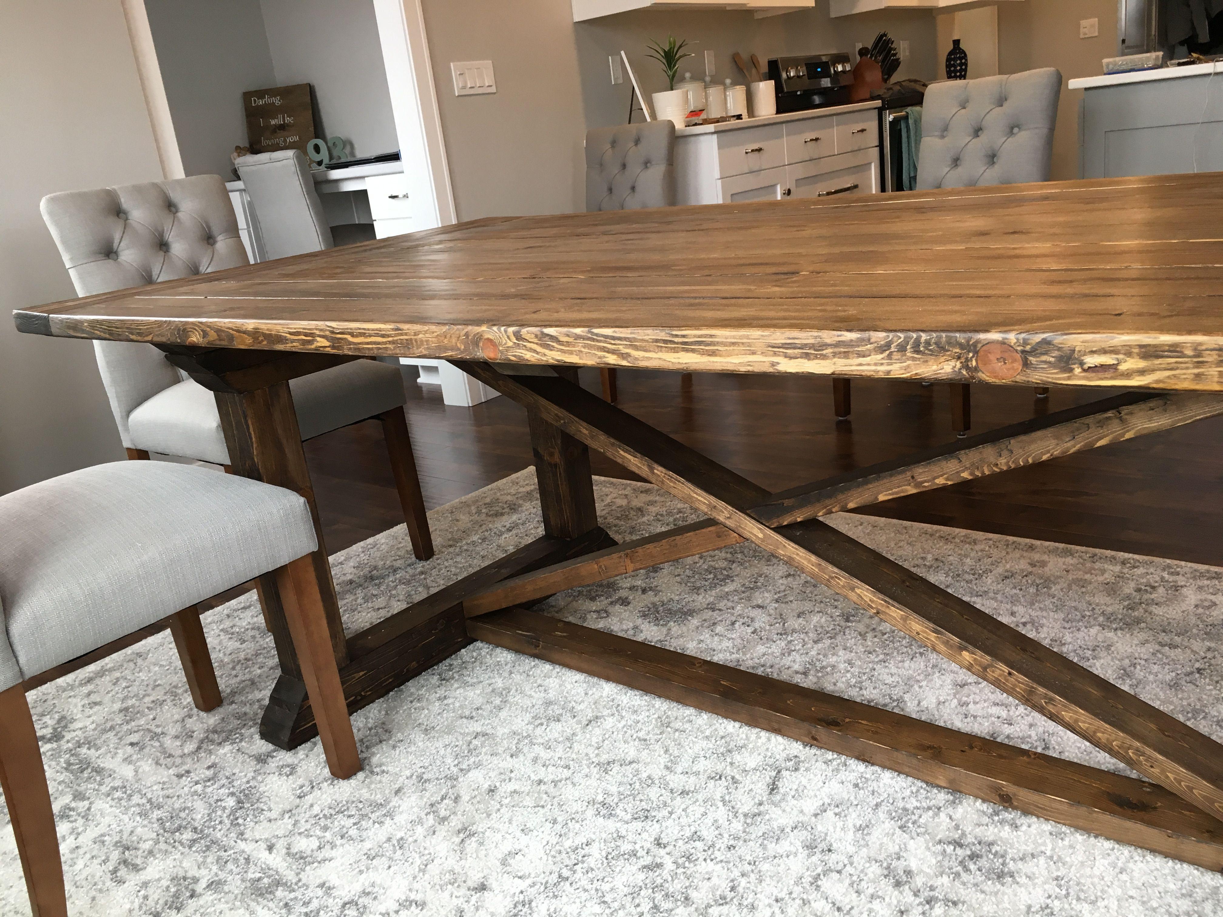 Rekourt Table Build Diy Projects Farmhouse Dining Table