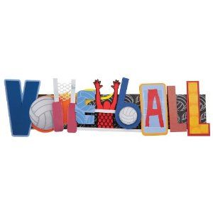 Karen Foster Design, Scrapbooking and Craft Embellishment Stacked Statement, Volleyball