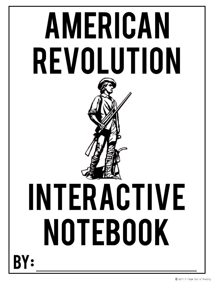American Revolution Interactive Notebook and Graphic
