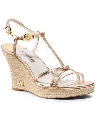 MICHAEL Michael Kors Kami T-Strap Platform Wedges - Wedges - Shoes - Macy's