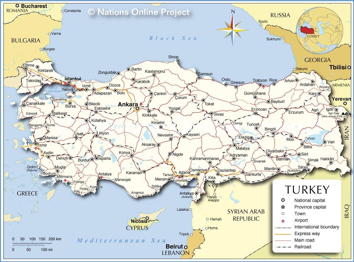 pin turkey map on - photo #26