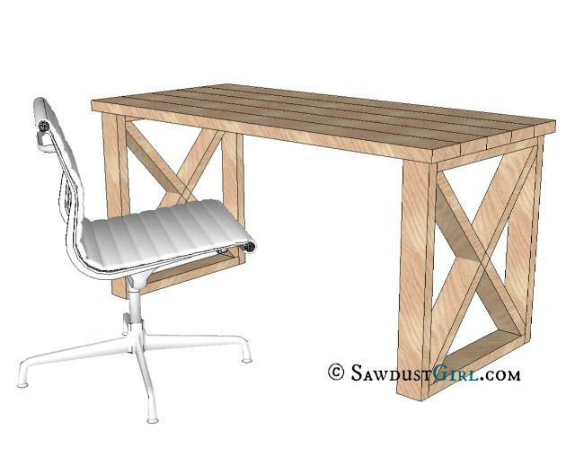 office desk plan. A Reader Suggested I Take My X Leg Bench Design Make An Office Desk. Thought That Was Great Idea! With This Desk Plan You Can Build B