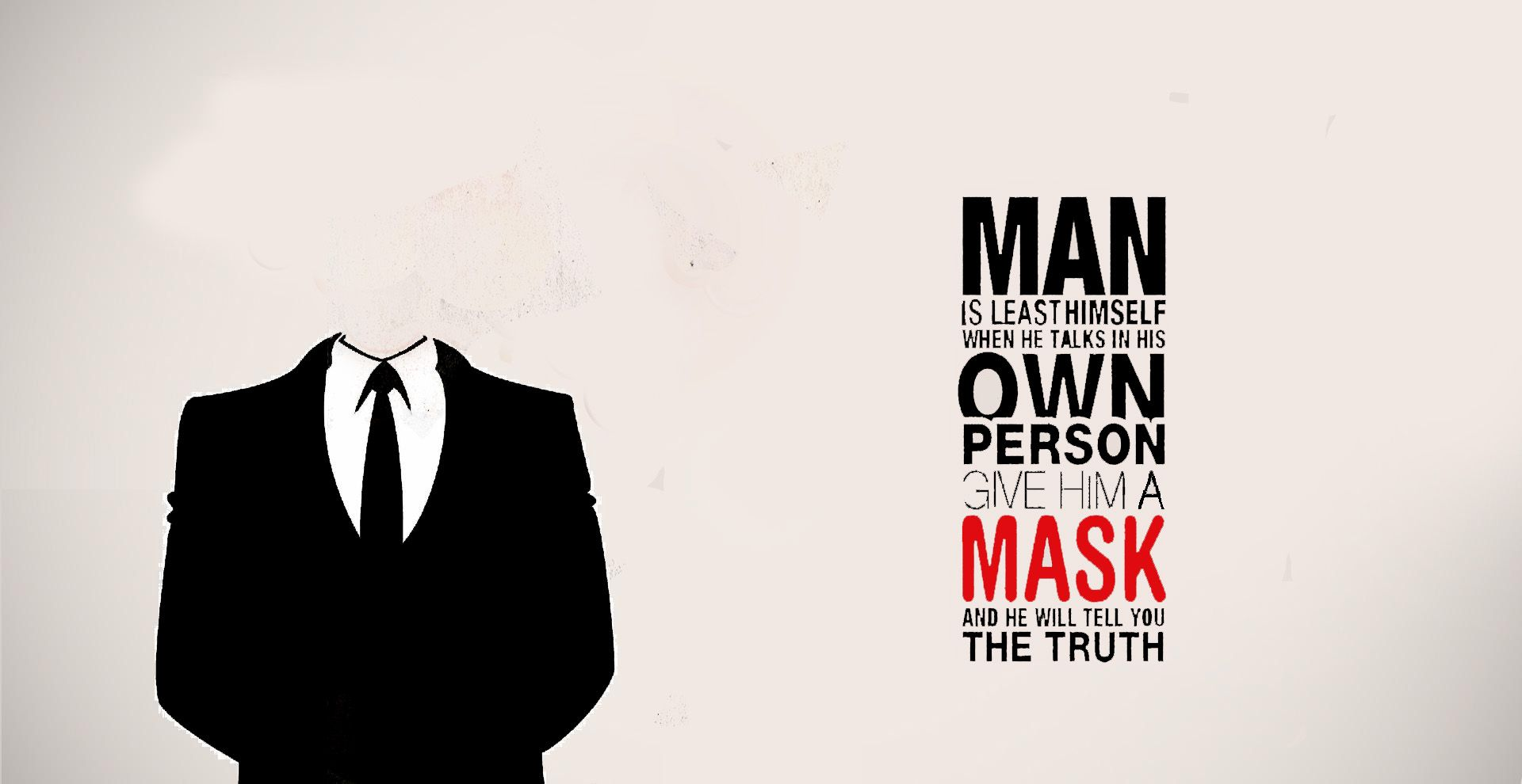 Anonymous wallpaper/ Oscar Wilde quote Wallpaper quotes