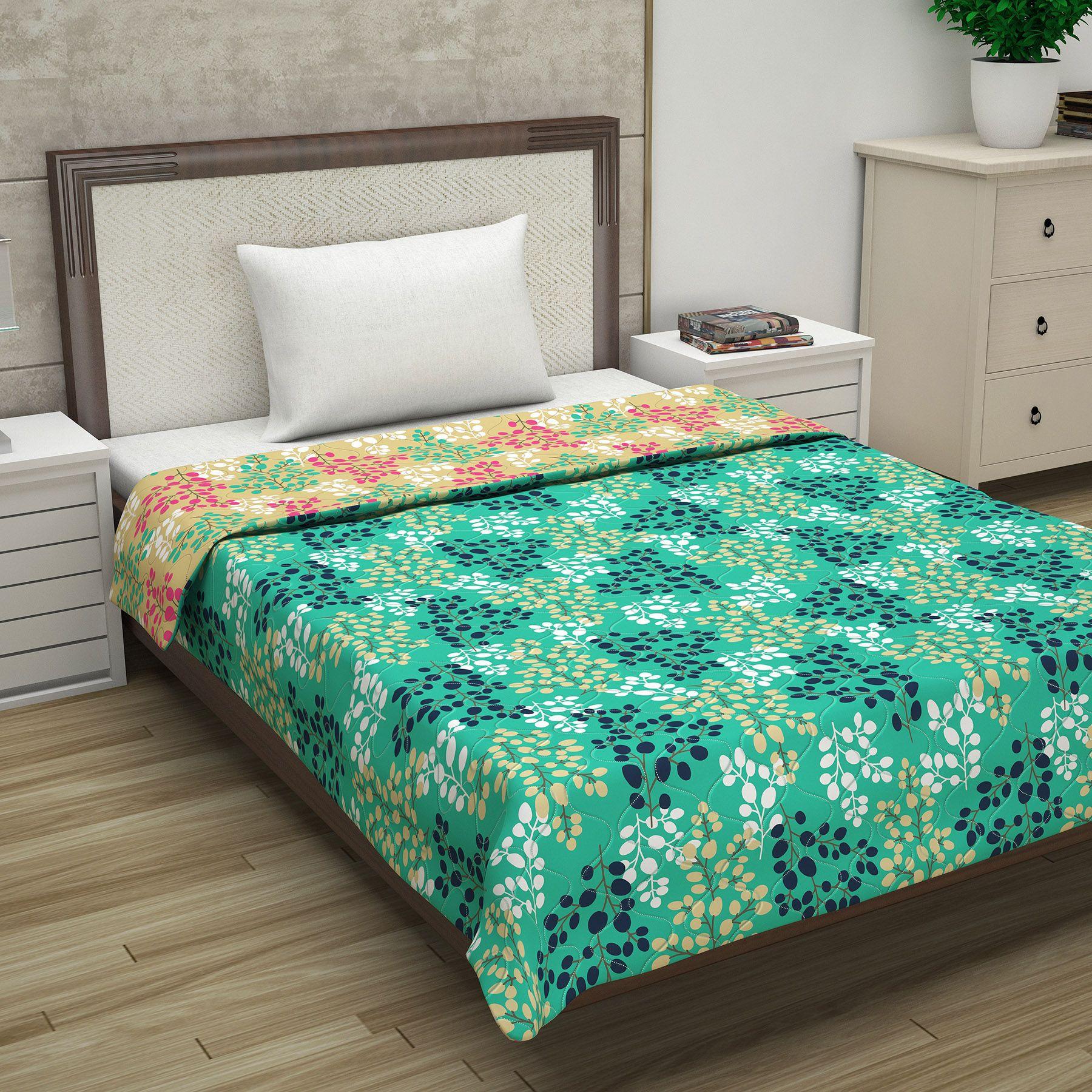 Divine Casa Luxor Floral Microfiber Single Comforter
