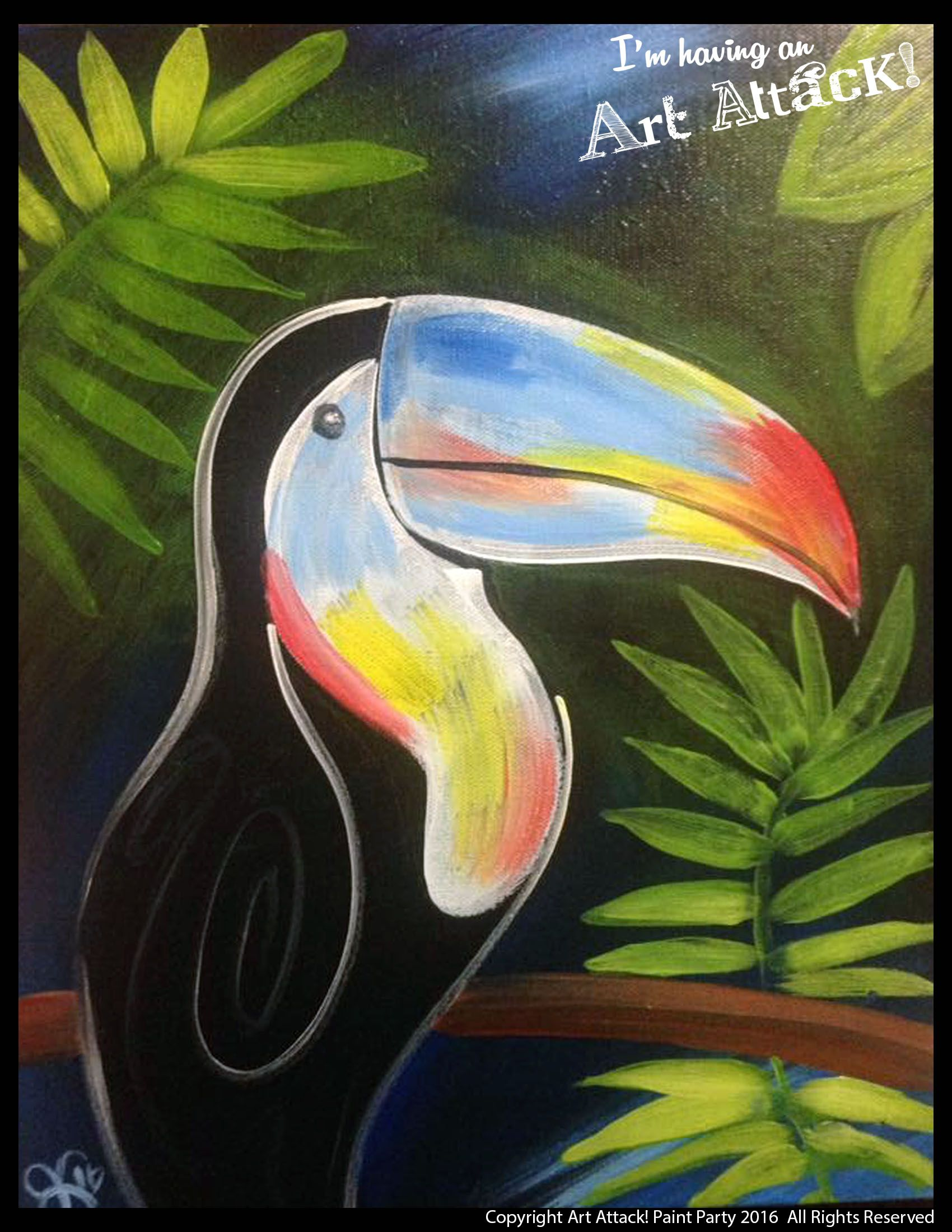 Toucan Sam Wwwartattackpaintpartycom Original Painting