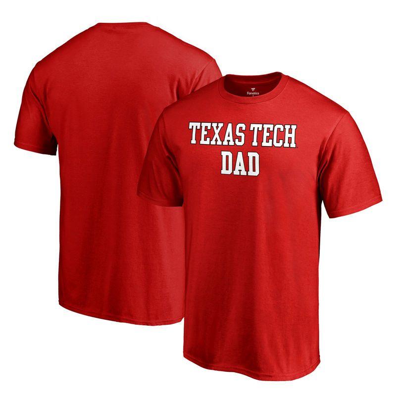 3d13dd688813 Texas Tech Red Raiders Fanatics Branded Big & Tall Team Dad T-Shirt - Red