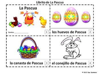 easter booklets in spanish librito de la pascua en espanol one contains text and. Black Bedroom Furniture Sets. Home Design Ideas