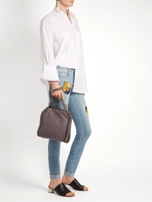 Stella McCartney Falabella mini faux-suede cross-body bag  e97b532bf9a62