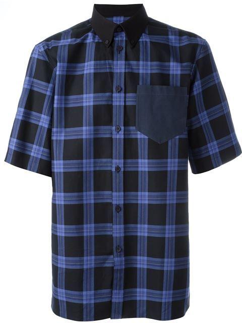 GIVENCHY Plaid Print Boxy Shirt. #givenchy #cloth #shirt
