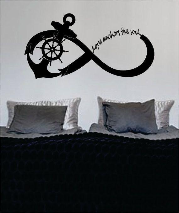 Photo of Hope Anchors the Soul Anchor Infinity Sign Nautical Ocean Beach Decal Sticker Wall Vinyl Art Decor – green